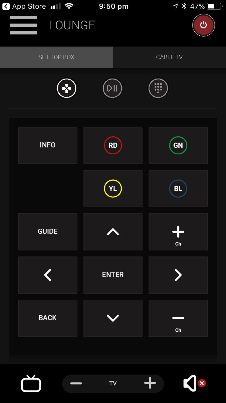 uControl App control screen